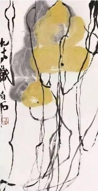 齐白石 《葫芦》 题识:九十八岁白石