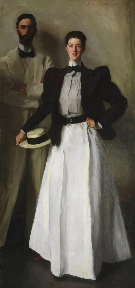 ・ 约翰・辛格・萨金特《斯托克斯夫妇》1897年 油画 @纽约大都会艺术博物馆