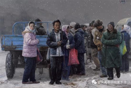 王少伦,《出路》200x300cm 布面油画 2011