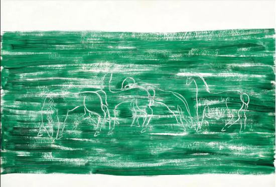 2009年在佳士得香港成交的常玉《草原上的马群》