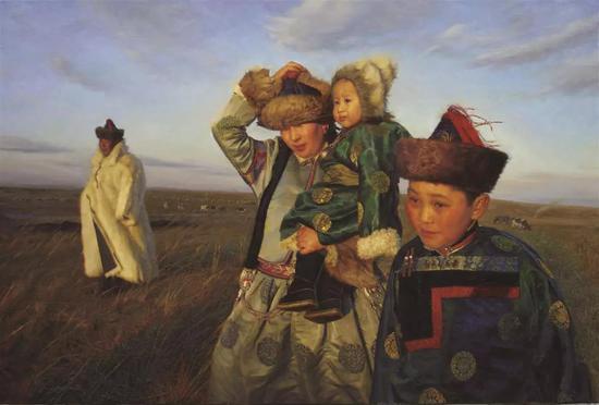 寒冷十月 布面油画 130X194cm 2011年