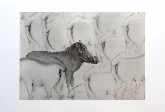 《艺术家》 2018 绢本水墨 107x154cm