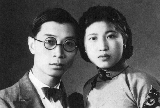 傅雷与夫人朱梅馥