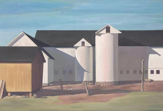 查尔斯·希拿《白色的岗哨》(White Sentinels)以2,232,500美元成交,创下艺术家拍卖纪录