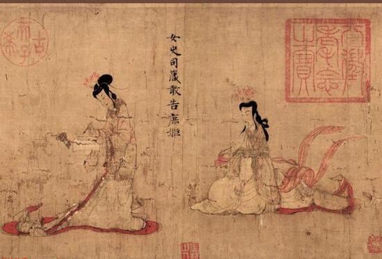 收藏于大英博物馆的《女史箴图》(局部)