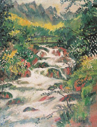 刘海粟《圣扬乔而夫飞瀑》,1934年