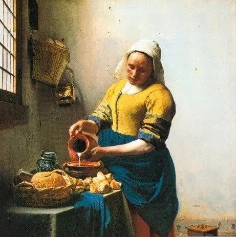 维米尔 《挤牛奶的女仆》
