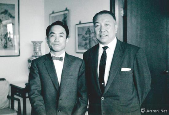 坂本五郎及仇焱之于日内瓦 Chateau-Banquet 合照,约1970年代