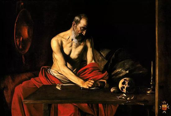 卡拉瓦乔《St Jerome Writing in His Study》,1607年