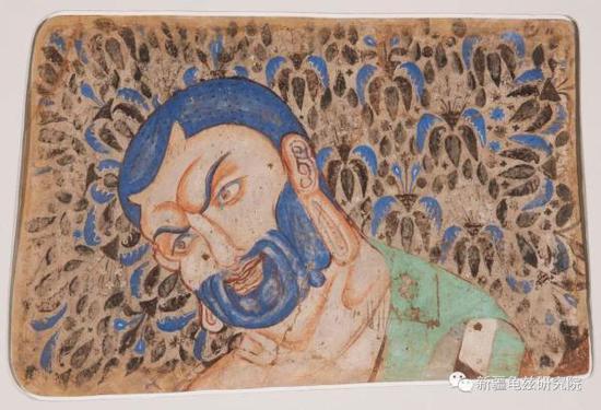 迦叶头部 克孜尔石窟 现藏德国柏林亚洲艺术博物馆