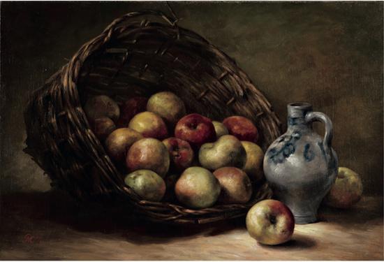 《果篮与苹果》 1891 Kunstmuseum Den Haag。 Longterm loan of P。 J。 van den Berg © Mondrian/Holtzman, 2020