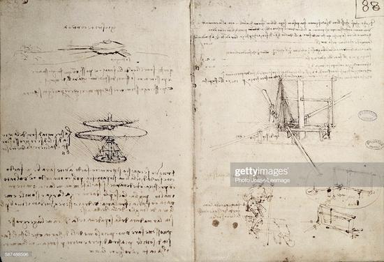 达芬奇大展:最伟大的是飞机坦克手稿 非蒙娜丽莎
