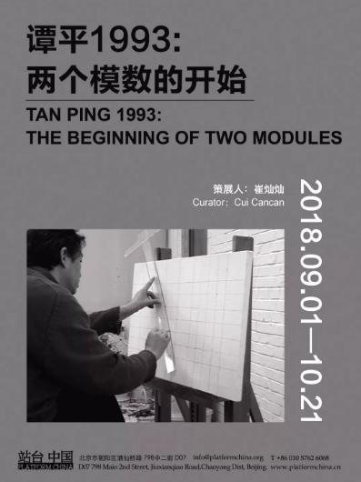 展览名称:谭平1993:两个模数的开始