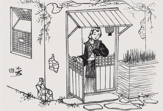 ▲《金瓶梅人物》插图,张光宇绘