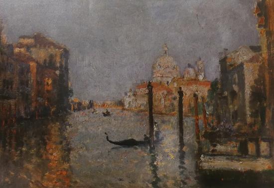 颜文樑《威尼斯运河》1930年 图片翻印自《颜文樑》画册