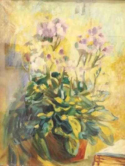 吴大羽《花》,油画