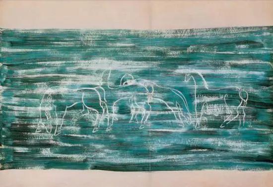 2005年在佳士得香港成交的常玉《草原上的马群》