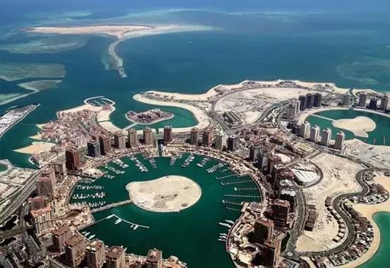 ▲卡塔尔空中俯瞰图