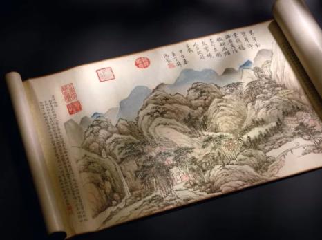 钱维城的《台山瑞景》(1774年)。图片:致谢苏富比