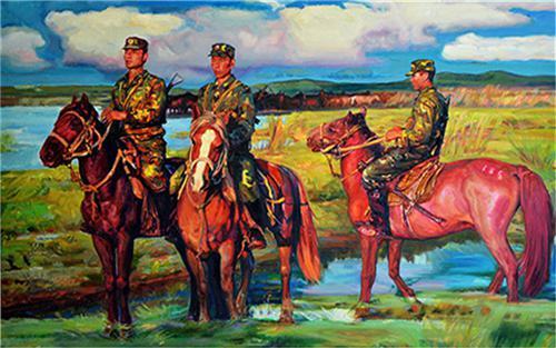 《西部情怀》190×145cm 2007年