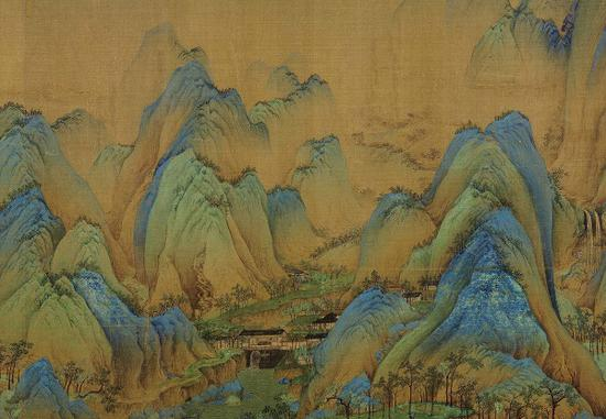 《千里江山图》卷 局部