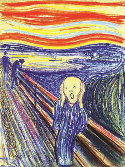2012年5月,创作于1895年的第三版《呐喊》以近1.2亿美元成交。