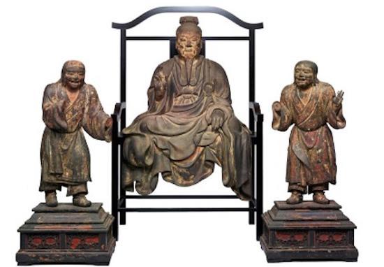 重要文化遗产 傅大士坐像及二童子立像