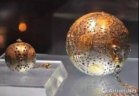 唐 银质熏球