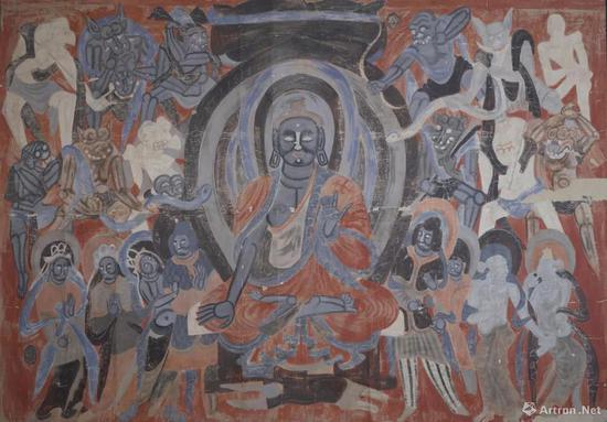 董希文 临摹敦煌壁画莫高窟北周第428窟降魔变