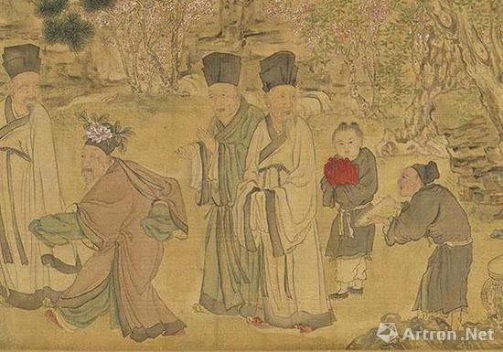 明 黄彪 画九老图(局部)