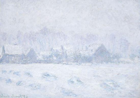 克劳德·莫奈《吉维尼的雪景》布面油画 65.4 x 92.7 cm 1893年 成交价:1550万美元