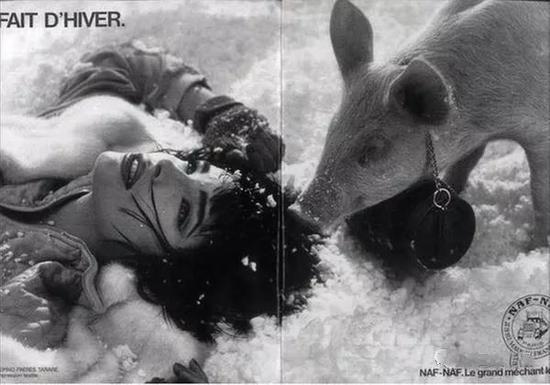 1985年法国服装品牌Naf Naf的秋冬广告