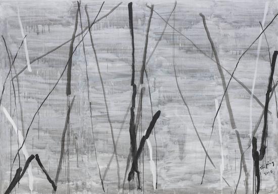 《无题》,布面丙烯,300 x 400cm,2016