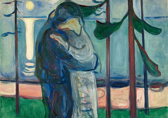 月光、海边的吻 1914年 油彩、油画