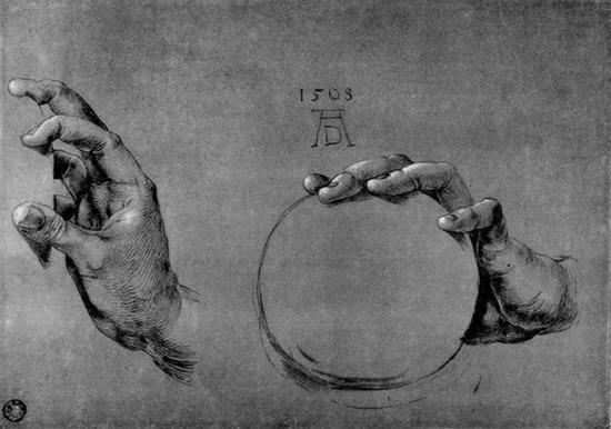 Albrecht Dürer, H?nde Gottvaters