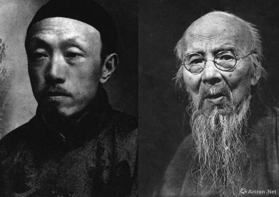 齐白石(右一)与陈师曾(左一)的艺坛佳话
