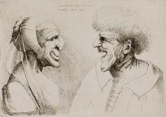 文策斯劳斯·霍拉(1607-1677),两个怪异的脸, 1645年,泰勒斯博物馆,哈勒姆