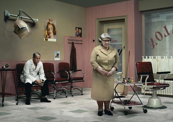 """埃文·奥拉夫,""""雨""""系列,《理发店》,2004"""