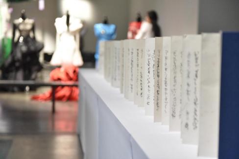 展览作品《失语——抄经计划(二)》程晓芳 装置 中国美术学院