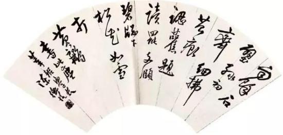 陈师曾赠杨莘耜扇面书法
