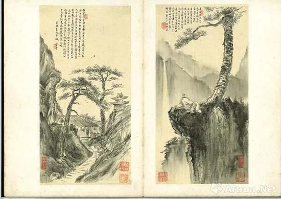 《华严瀑布》与《白马寺》