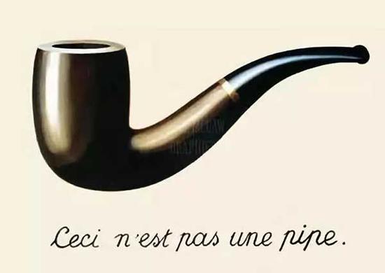 ▲马格利特作品《这不是一只烟斗》(1928)展现了图形和语言之间的复杂关系