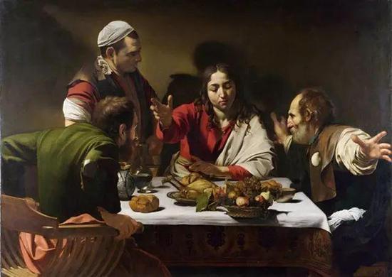 卡拉瓦乔,《以马忤斯的晚餐》