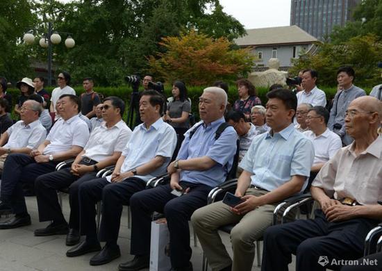 社会文化艺术界著名学者出席《学林墨痕》——学人书法北京邀请展开幕式