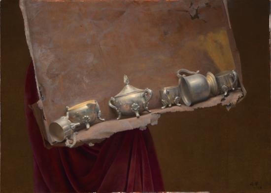 冷军《铁盒与银器》50X70cm2004年