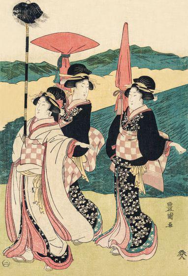 日本浮世绘妇女