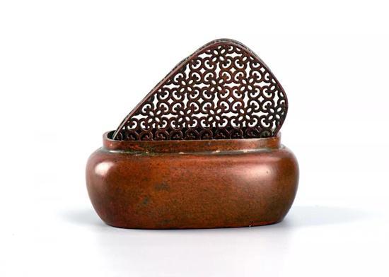 铜熏炉(张鸣歧款)