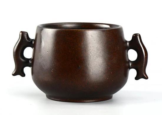 鱼耳铜炉(宣德年制款)