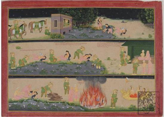 印度长幅睒子故事图