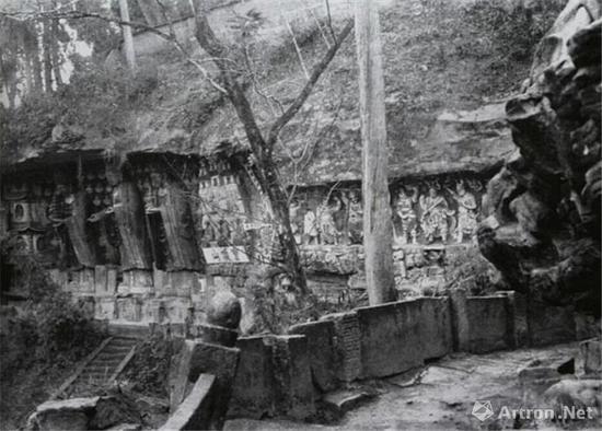 1940年 宝顶山石刻一角